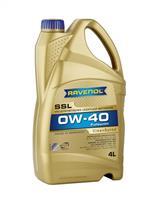 (акция 4+1) масло моторное синтетическое  super synthetik oel ssl 0w-40 ( 5л)