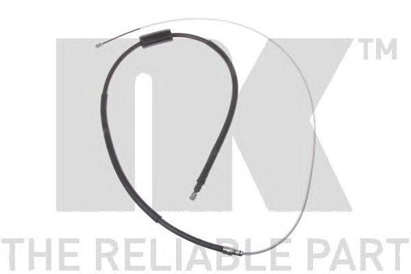 Трос стояночного тормоза задний  renault megane-ii, scenic-ii (дисковые тормоза) 03-