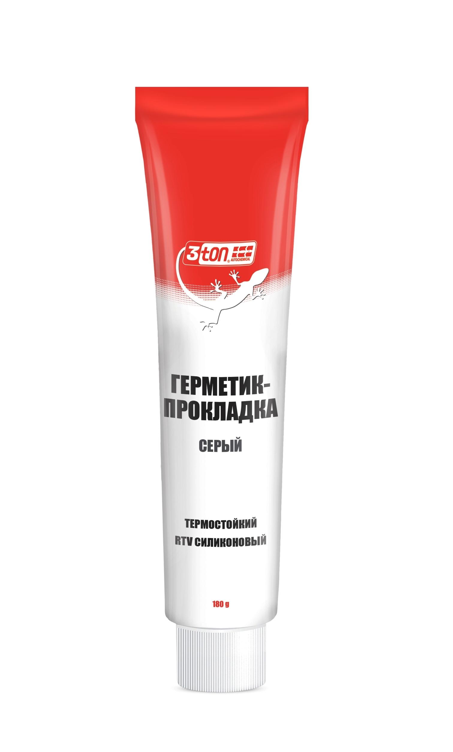 Герметик-прокладка серый +300°с 180г 3ton
